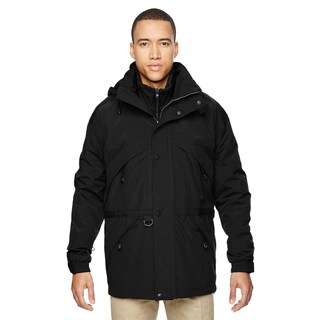3-In-1 Men's Big and Tall With Dobby Trim Black 703 Parka