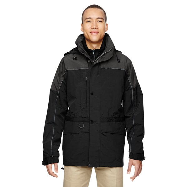 3-In-1 Mens Big and Tall Two-Tone Black 703 Parka