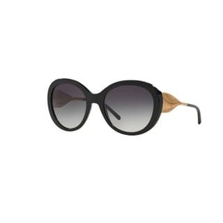 Burberry Women's BE4191 30018G Black Plastic Round Sunglasses w/ 57mm Lens