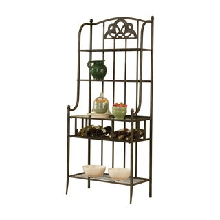 Hillsdale Furniture Marsala Black Metal Baker's Rack