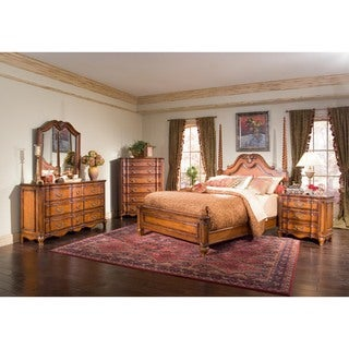 Chicago Bedroom Marquette Park Cognac King Panel Bed