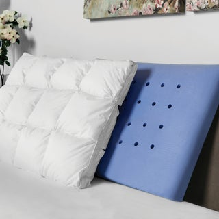 SwissLux Luxury Hand-tufted Down Alternative and Memory Foam Pillow