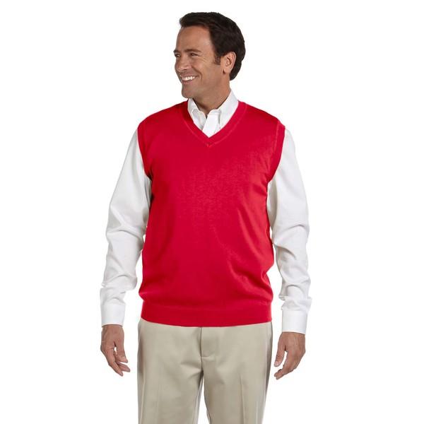 V-Neck Mens Red Vest