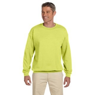 50/50 Super Sweats Nublend Fleece Men's Crew-Neck Safety Green Sweater