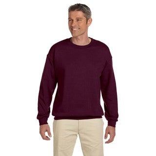 50/50 Super Sweats Nublend Fleece Men's Crew-Neck Maroon Sweater
