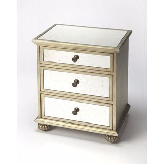 Butler Grable Mirror and Silver Leaf Accent Chest
