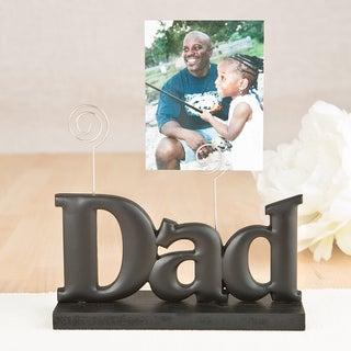 Black ABS 'Dad' Photo Holder