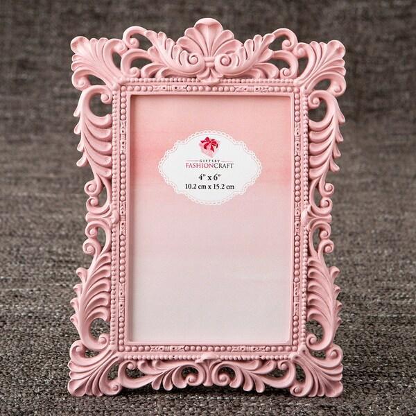 Pink Elegant Quartz 4 x 6-inch Baroque Picture Frame