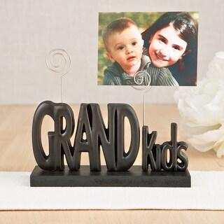 Black ABS Grandkids Photo Holder