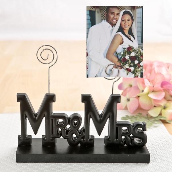 Mr. & Mrs. Black ABS Wedding Photo Holder