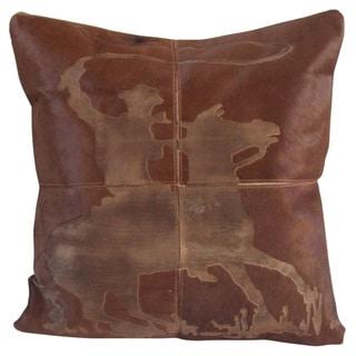 Mina Victory Dallas Lasso Cowboy Laser Cut Tan Throw Pillow by Nourison (20-Inch X 20-Inch)