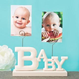 Rose White MDF Baby Photo Holder