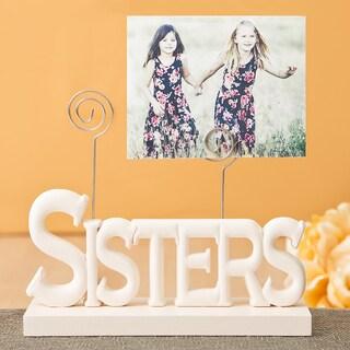 Sisters Rose White Photo Holder