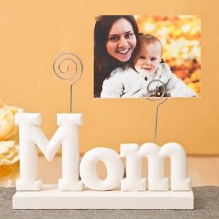 White ABS Mom Photo Holder