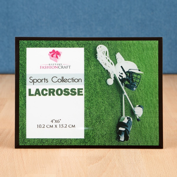 Lacrosse Green Wood and Glass Picture Frame