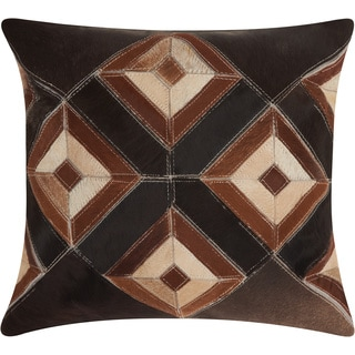 Mina Victory Dallas Four Eyed Diamonds Brown Throw Pillow (20-inch x 20-inch) by Nourison