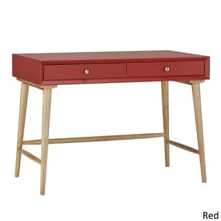 Mid-century Living Marin Danish Modern 2-drawer Writing Desk