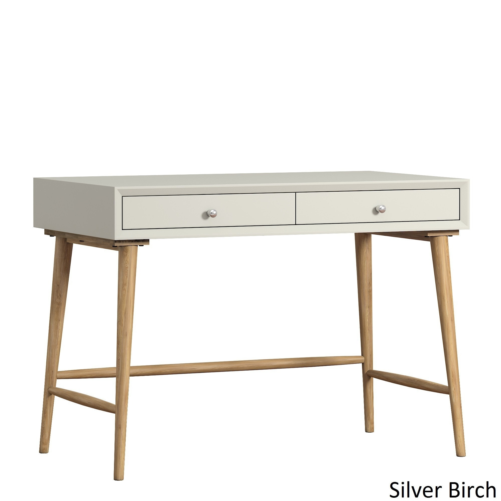 Marin Danish Modern 2-drawer Writing Desk iNSPIRE Q Modern Beige
