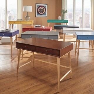 marin danish modern 2drawer writing desk inspire q modern