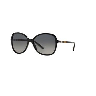 Burberry Women's BE4197F 3001T3 Black Plastic Butterfly Sunglasses w/ 58mm Lens