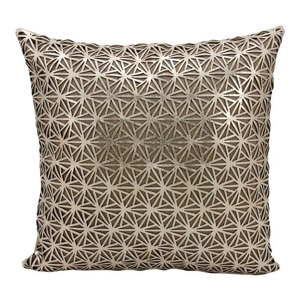 Mina Victory Natural Hide Dragon Claw Gold/ BeigeThrow Pillow by Nourison (18-Inch X 18-Inch)
