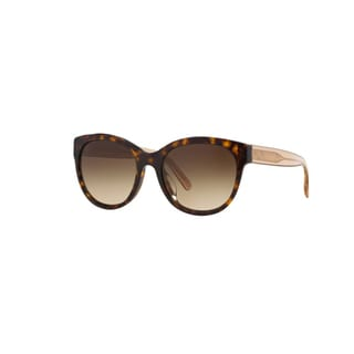 Burberry Women's BE4187 350613 Dark Havana Plastic Phantos Sunglasses w/ 54mm Lens