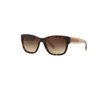 Burberry Women's BE4188 350613 Dark Havana Plastic Square Sunglasses w/ 54mm Lens