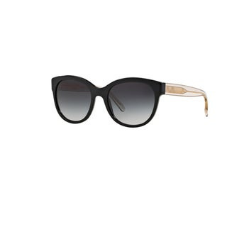 Burberry Women's BE4187 35078G Black Plastic Phantos Sunglasses w/ 54mm Lens