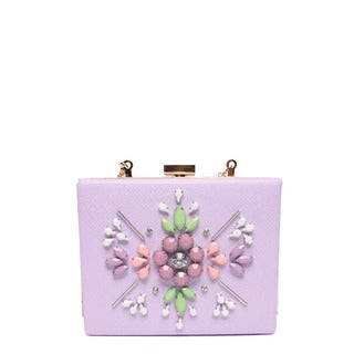 Nicole Lee Star Lavender Hard Frame Clutch