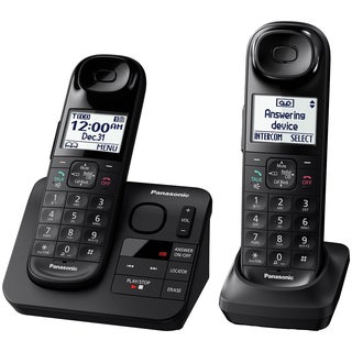 Panasonic KX-TGL432B Expandable Cordless (2) Phone Answering System + Comfort Shoulder Grip