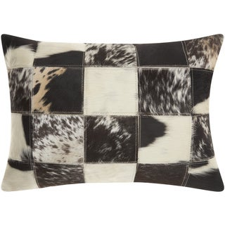 Mina Victory Dallas Animal Print Black/White Throw Pillow (14-inch x 20-inch) by Nourison