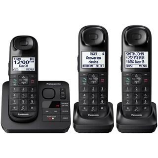Panasonic KX-TGL433B Expandable Cordless (3) Phone Answering System + Comfort Shoulder Grip