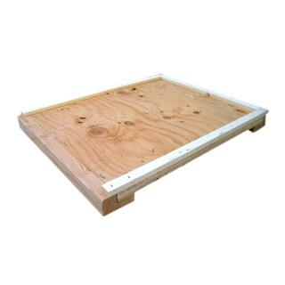 Bee Champions Wooden Unpainted Beekeeper Hive Bottom Board (Pack of 2)