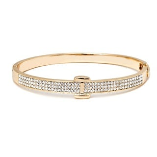 Goldplated Crystals Belt Bangle Bracelet - Gold
