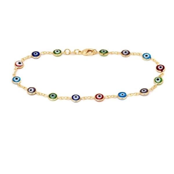 Fashion Jewelry Anklets Frank Multi Bead Anklet