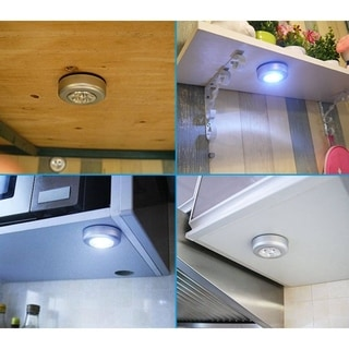 ETCBUYS 6-Pack Bright Cabinet/Closet/Boat Portable Touch Extra LED Lights