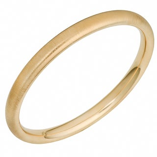 Oro Forte 14k Yellow Gold 8-mm Satin Finished Slip-on Bangle Bracelet