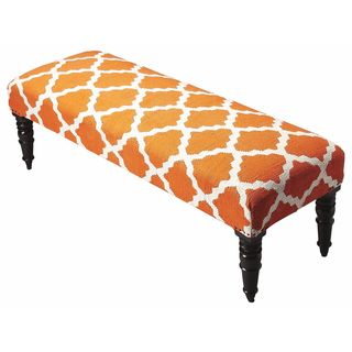 Butler Lyon Cotton Upholstered Bench (As Is Item)