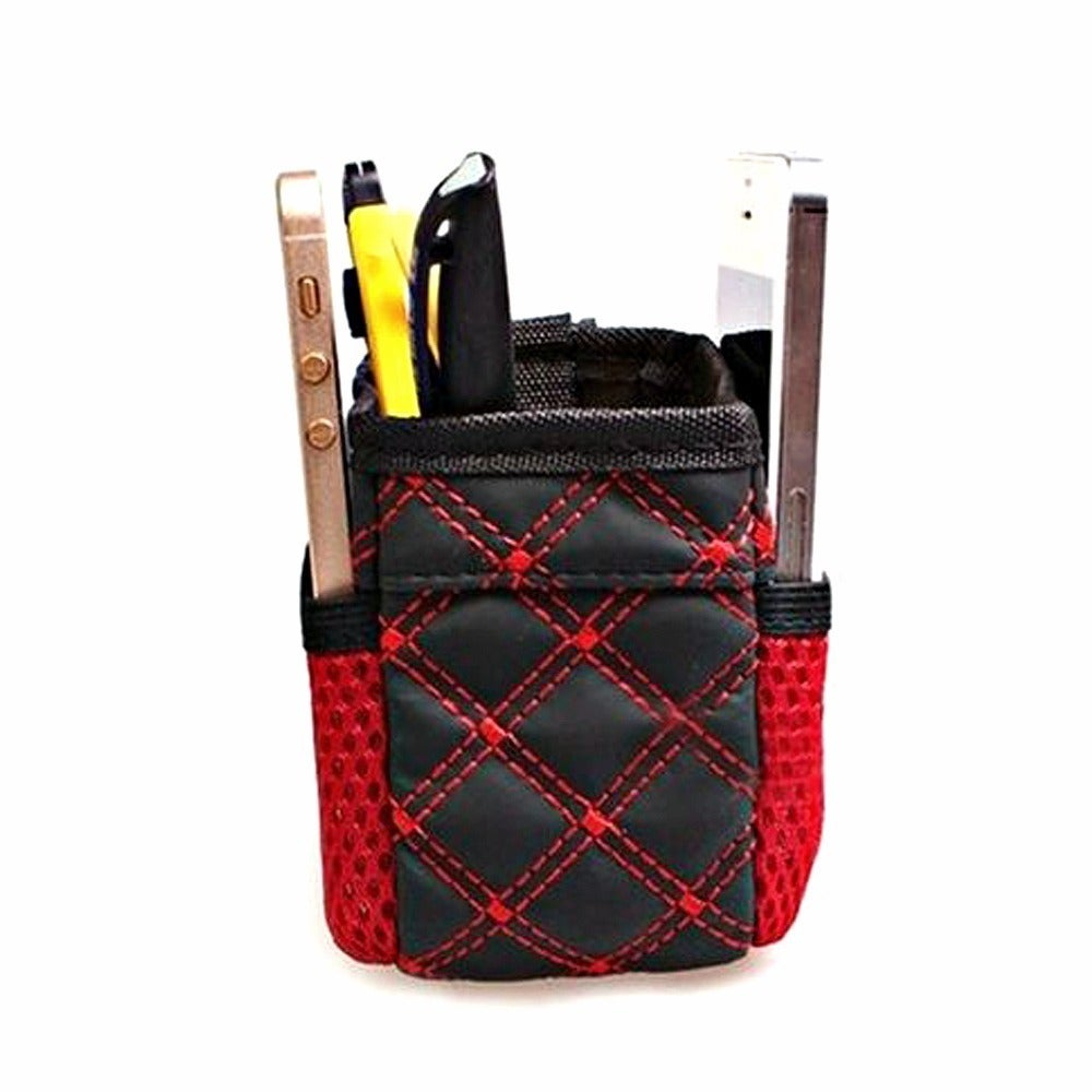 and More Easily Clips Into Any Vent Dual Compartments 2 Pockets Reduce Clutter and Store Small Objects Like Phones Glasses Car and Driver Air Vent Organizer Pockets Red