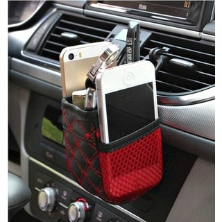 Multipurpose Car Vent Dash Pouch Cell Phone Pen Holder Storage Pocket Organizer