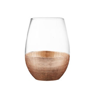 Fitz Floyd Linen Wrapped Stemless Glasses (Set of 4)