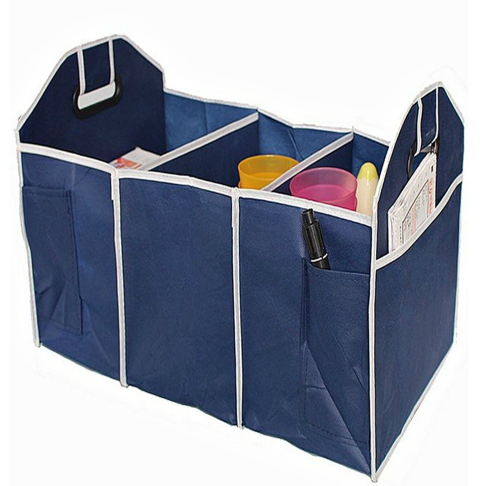Foldable 3-Compartment Cargo Car Trunk Organizer Tool Sto...