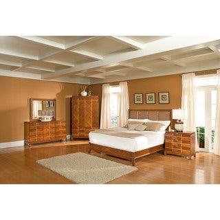Chicago Bedroom Lake Shore Drive Amber King Leather Bed