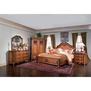 Chicago Bedroom Marquette Park Cognac King Leather Bed