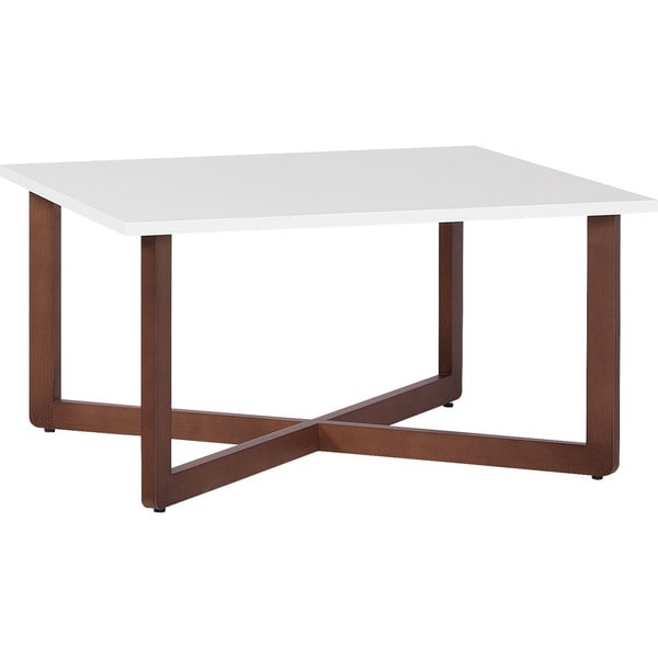 Shop Voelkel Mio Collection White Wood Coffee Table Free Shipping