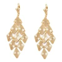 Goldplated Diamond Chandelier Earring