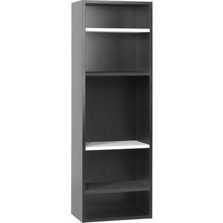 Voelkel Young Users Collection Black Wood Open Bookcase