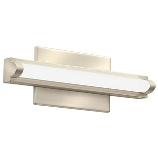 Lithonia Lighting Contemporary Arrow Brushed Nickel 12-inch LED Vanity Light