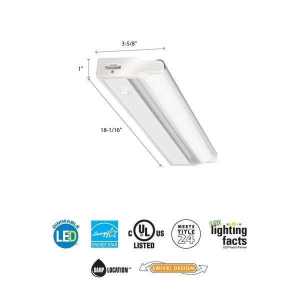 Philips 35000000603 Led Under Cabinet Light: Shop Lithonia Lighting White 18-inch LED Linkable Cabinet