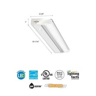Lithonia Lighting White 18-inch LED Linkable Cabinet Light